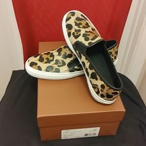 Coach Chrissy leather slip ons.